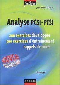Exercices de mathématiques : Analyse PCSI-PTSI, 1re année - MPSI, PCSI, PTSI - Exercices et rappels de cours