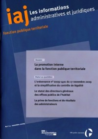 Informations administratives et juridiques n°11-2009)