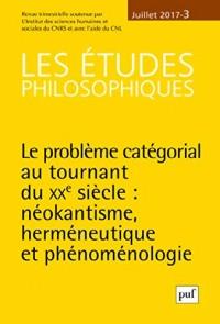 Etudes Philosophiques 2018 - N  1