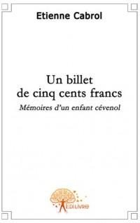 Un billet de cinq cents francs