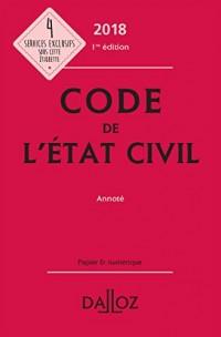 Code de l'état civil 2018, annoté - Nouveauté
