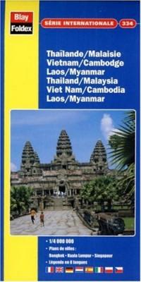 Carte routière et touristique : Thaïlande - Viêt-Nam - Laos - Cambodge, N° 334 (avec un index)