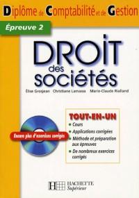 Droit des sociétés DCG 2 (1Cédérom)