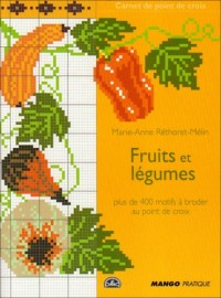 carnet de point de croix : fruits et legumes