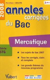 Mercatique série STG : Annales corrigées du Bac