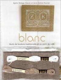 Blanc : Broderie traditionnelle au point de croix