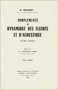 Compléments de dynamique des fluides et d'acoustique (livre non massicoté)
