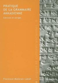Pratique de la grammaire akkadienne : Exercices et corrigés
