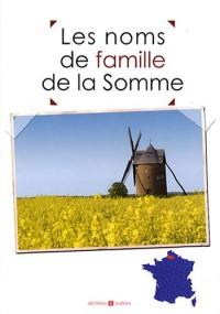 Les noms de famille de la Somme