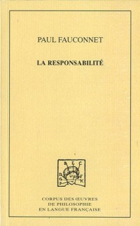 La responsabilité : Etude de sociologie