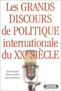 Les grands discours de politique internationale du XXe siècle