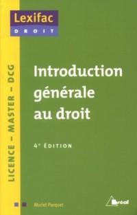 Introduction générale au droit : licence, master
