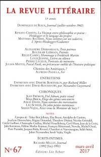 La Revue Littéraire, N°67, mars-avril 2017
