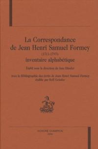 Correspondance de Jean Henri Samuel Formey (la). (1711-1797) : Inventaire Alphabetique.