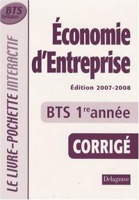 Economie d'entreprise BTS tertiaires 1e année : Livre du professeur, Corrigé
