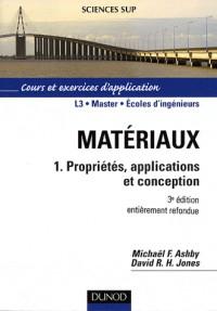 Matériaux : Tome 1, Propriétés, applications et conception