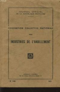 Convention collective nationale des industries de l'habillement