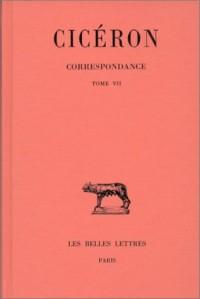 Correspondance, t. VII
