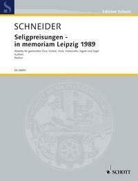 Seligpreisungen - in memoriam Leipzig 1989 - Text aus dem Matthäus-Evangelium, 5, 3-12 in der Übersetzung von Martin Luther - choeur mixte, trio à cordes, basson et orgue - Partition - ED 20692