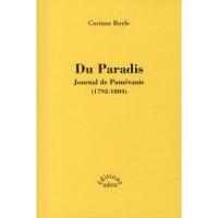 Du paradis : Journal de Poméranie (1792-1804)