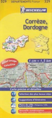 Corrèze, Dordogne : 1/150 000