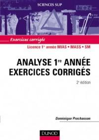 Mathématiques - Exercices corrigés - Analyse 1e année