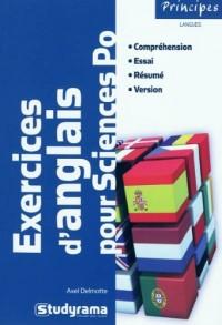 Exercices d'anglais pour Sciences Po