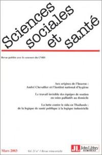 Sciences sociales et santé, n° 1 (mars 2003)