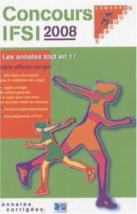 Concours IFSI 2008 : Sujets officiels et corrigés