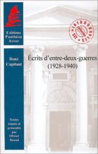 Ecrits d'entre-deux-guerres (1928-1940)