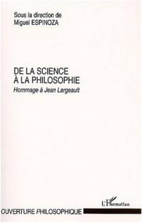 De la science a la philosophie hommage a jean largeault