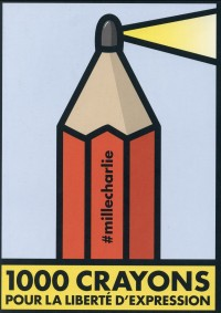 1000 crayons pour la liberté d'expression