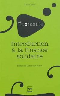 Introduction à la finance solidaire