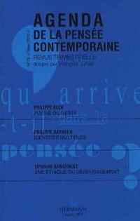 Agenda de la pensée contemporaine, n°15