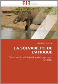 La Solvabilite de L'Afrique