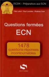 Questions fermées ECN 1478 réponses incontournables