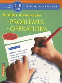 Feuilles d'exercices: Problèmes, opérations