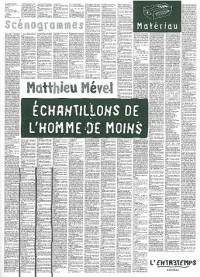 ECHANTILLONS L'HOMME DE MOINS