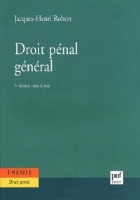 Droit penal general (5e ed.)