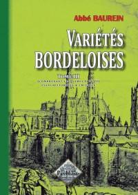Variétés bordeloises (tome 3)