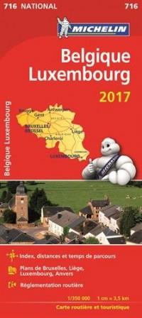 Carte Nationale 716 Belgique Luxembourg 2017