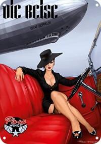 Plaque émail Zeppelin