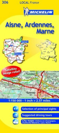 Michelin Map France: Aisne, Ardennes, Marne 306