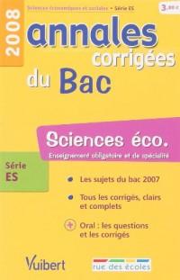 Sciences éco série ES : Annales corrigées du Bac