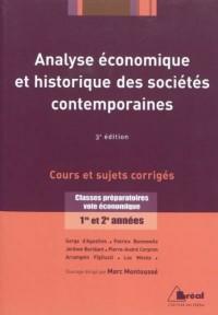 Analyse économique et historique des sociétés contemporaines - Cours et sujets corrigés - Classes préparatoires voie économique 1ère et 2ème années