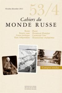 Cahiers du Monde Russe 53/4
