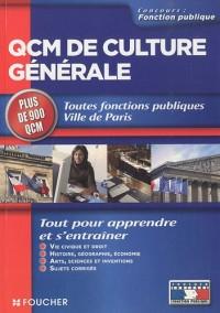 QCM de culture générale : Toutes fonctions publiques Ville de Paris