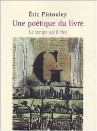Une poétique du livre