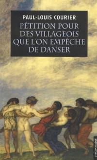 Pétition pour des villageois que l'on empêche de danser