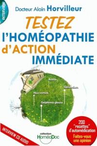 Testez l'homéopathie action immédiate